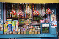 Old grocery store in a rural place in Basanti, West Bengal Royalty Free Stock Photos