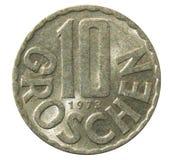 Old 10 Groschen Austrian coin Stock Photos