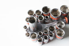 Old socket wrench Royalty Free Stock Photo