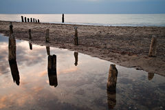 Old groyne Royalty Free Stock Image
