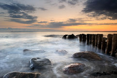 Old groyne Royalty Free Stock Photo