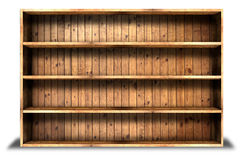 Old grung wood shelf background Royalty Free Stock Photo