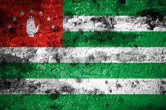 Old grunge Abkhazia background flag.  Vector Illustration
