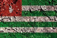Old grunge Abkhazia background flag.  Stock Illustration