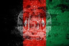 Old grunge Afghanistan background flag.  stock illustration