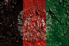 Old grunge Afghanistan background flag.  royalty free illustration