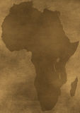 Old grunge Africa map illustration Stock Photo