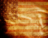 Old grunge american flag Stock Photos