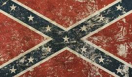 Old grunge American US confederate flag Stock Images