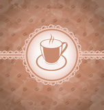 Old grunge background with coffee label Royalty Free Stock Photography
