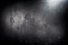 Old grunge black wall. Spot lighting Stock Photo
