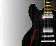 Old Grunge Blues Guitar Royalty Free Stock Photography