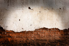 Old grunge brick wall. With space for text Stock Image