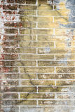 Old grunge brick wall background stock photography