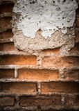 Old grunge brick wall background stock image