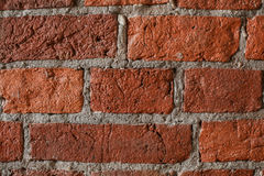 Old grunge brick wall background. Red and Gray Stock Photos