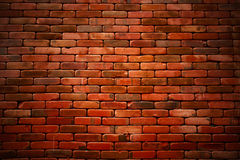 Old grunge Brick wall background textured with vignette Royalty Free Stock Photography