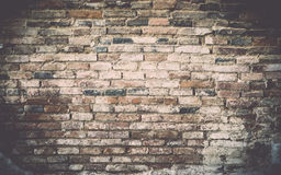 Old grunge brick wall background. stock photos