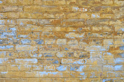 Old grunge brick wall with paint scale background Stock Image