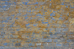 Old grunge brick wall with paint scale background Royalty Free Stock Photo