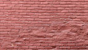 Old grunge brick wall painted in red stock illustration