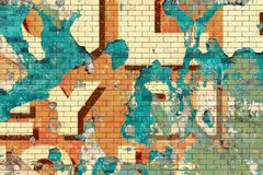 Old Grunge Brick Wall Royalty Free Stock Photography