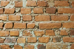 Old grunge brick wall texture. Old brown grunge brick wall textured surface Stock Images