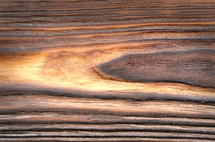 Old, grunge brown wood panel Stock Images