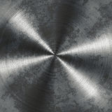 Brushed metal plate circular Royalty Free Stock Image
