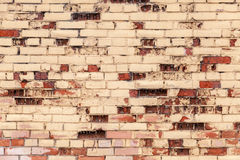 Old grunge colorful brick wall texture Stock Photography