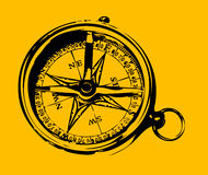 Old grunge compass Stock Photography