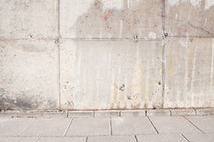 Old grunge concrete wall. Old grunge grey concrete wall Stock Images