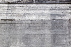 Old grunge concrete wall background texture. With drainage holes and moisture stains with discoloration, full frame view Stock Photo