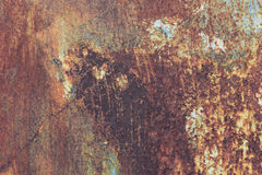 Old grunge corroded rusted metal wall texture Stock Photos
