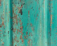Old grunge cracked paint on metal wall texture Royalty Free Stock Photos