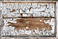 Old grunge cracked wooden frame Royalty Free Stock Photos