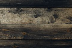 Old grunge dark textured wooden background stock photo