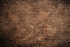 Old grunge dark textured wooden background,The surface of the old brown wood texture,top view brown wood paneling stock photography
