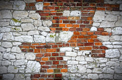 Old grunge dirty brick wall Royalty Free Stock Photos