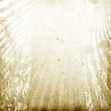Old grunge dirty cardboard with rays image. Royalty Free Stock Images