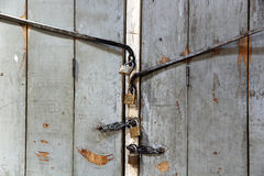 Old grunge door lock Royalty Free Stock Images
