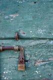 Old grunge door lock Stock Images