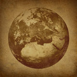 Old grunge earth view of europe Royalty Free Stock Image