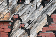 Old Grunge Exterior Factory Wall Stock Photography