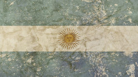 Old grunge faded vintage Argentine Republic flag Stock Photos