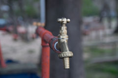 Old grunge faucet. Detail view of an Old grunge faucet Stock Photography