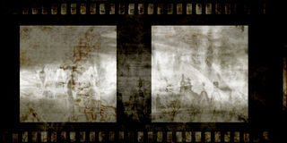 Old grunge film strip Stock Images