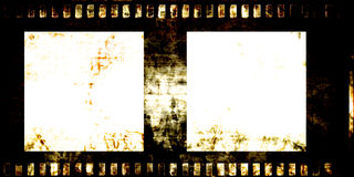 Old grunge film strip Royalty Free Stock Images