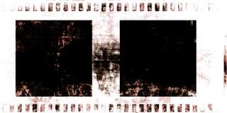 Old grunge film strip Stock Images