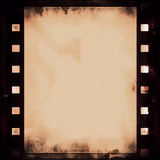 Old grunge film strip background Stock Images